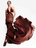 Roberto Cavalli gown in Rajasthani Bandhini fabric