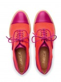 Magenta and tangerine brogues by Marc Cain