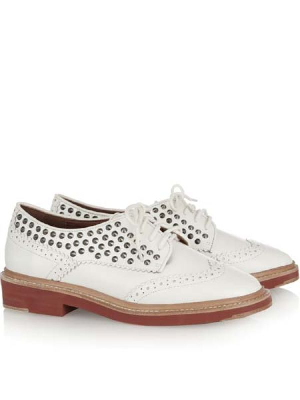 Studded leather brogues by Pour la Victorie