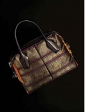 Tod's D bag in Kanchipuram silk