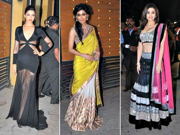 As the 58th Filmfare Awards took place on Sunday night, we had our eyes on the red carpet. We spotted a mix of embellished lehengas, sheer gowns and dangerously cut blouses, which made for our favourite appearances. We'll let you pick yours...