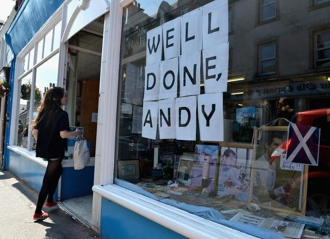 Andy Murray winning Wimbledon Reaction in Dunblane