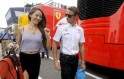Jenson Button and Jessica Michibata in Budapest