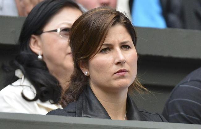 Mirka Federer, the wife of Roger Federer