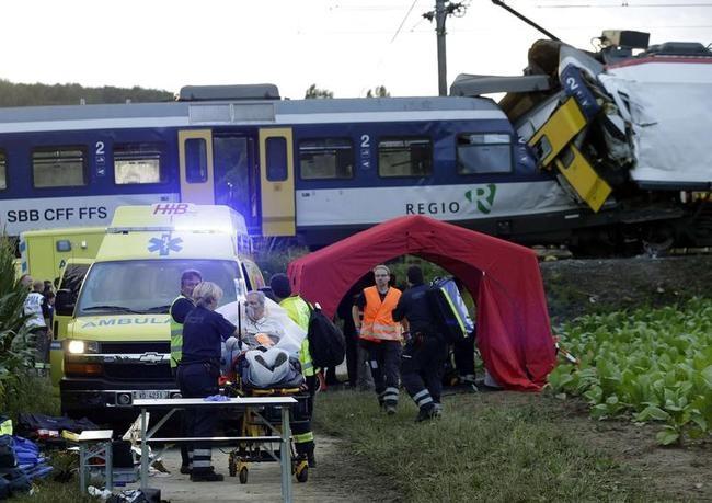 Head-On Train Collision In Switzerland