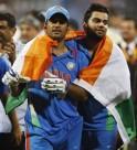 Virat Kohli and Mahendra Singh Dhoni