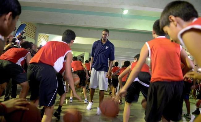 Chris Bosh in Mumbai