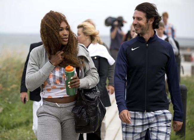 Serena Williams and Patrick Mouratouglou