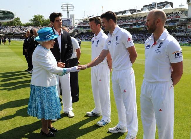 Queen Elizabeth II at Ashes