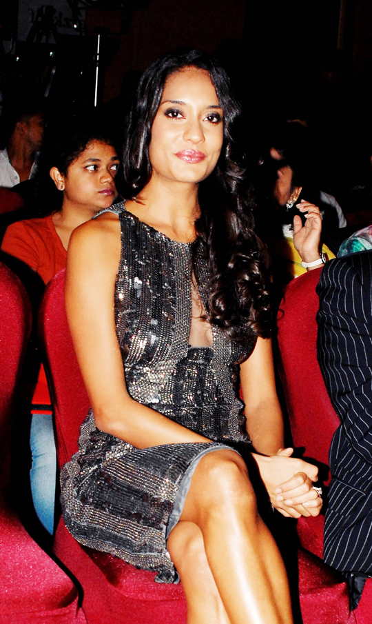 Lisa Haydon during the launch of a range of hairdressing products, in Mumbai, on 8th July.