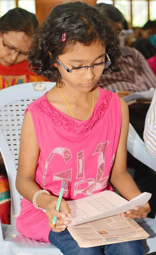 Times Sudoku Championship, at St Joseph's Boys School in Bangalore