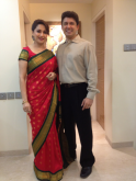 Madhuri Dixit with husband Shriram Madhav Nene