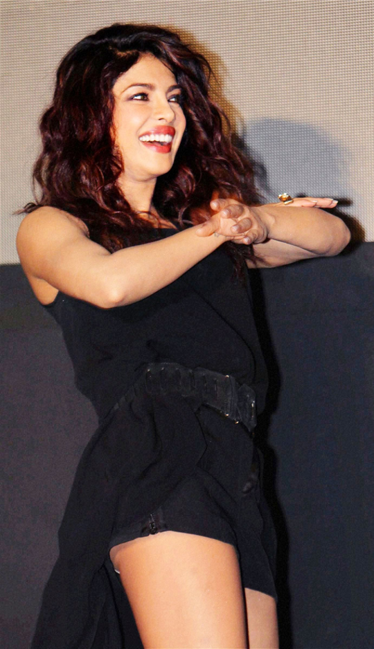 Priyanka Chopra during the launch of her new video single, Exotic, also featuring Pitbull, in Mumbai, on 12th July.