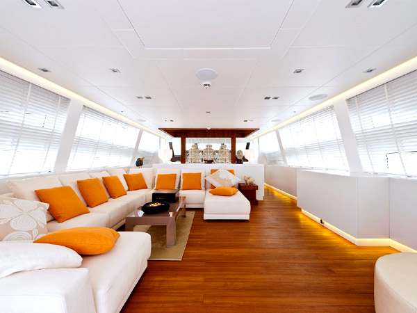 Inside AB116 Diamond Yacht