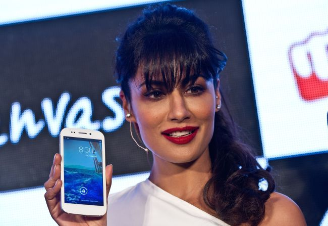 Chitrangada Singh launched the Micromax Canvas 4 earlier this week!
