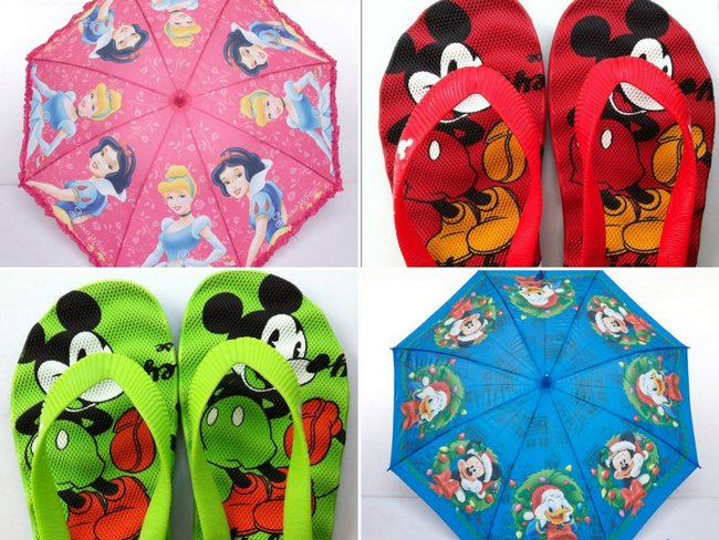 From classic characters such as 'Mickey & friends' to 'All things Princess', the new rain gear collection from Disney will have your little ones covered up for the monsoon. Here's a look at cute umbrellas and flip-flops which are available in the Disney monsoon collection...