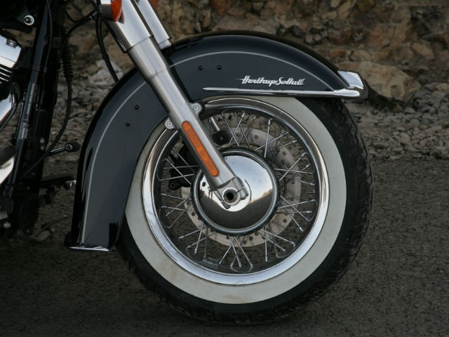 Harley has employed ABS on the Softail which has been quite cleverly housed in the hub of the front wheel