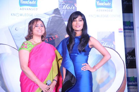 Parachute Advansed Knowledge center's brand ambassador Chitrangada Singh launches Dr. Aparna Santhanam's book, Let's Talk Hair.