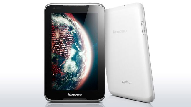 Lenovo IdeaTab A1000 comes with a 7-inch TFT display screen with a resolution of 600 x 1024 pixels.