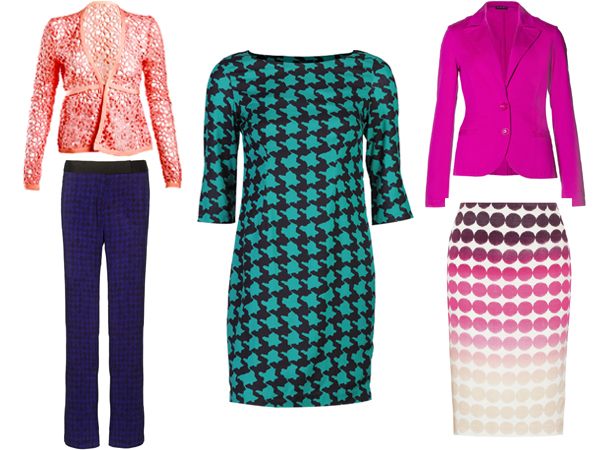 If your idea of office wear is boring black suits and sombre coloured shirts, we'd like you to change your thinking. Skip the boring blacks and browns and make way for sexy pencil skirts, bright blazers and printed pants in your wardrobe. Make an impression at your workplace with chic and sophisticated power items that every working woman should have in her wardrobe.