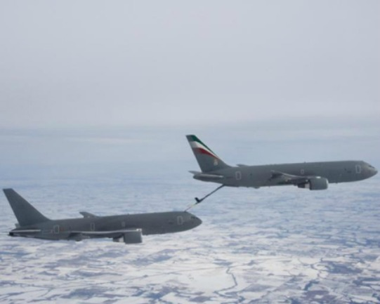 Italy KC-767A tanker refueling