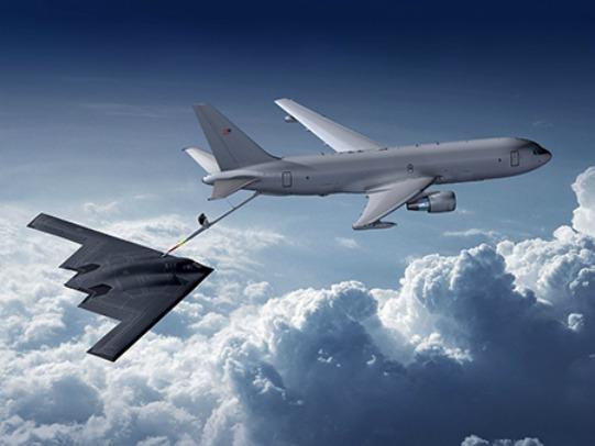 KC-46 with a B-2 Spirit