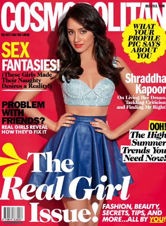 Shraddha Kapoor on Cosmopolitan