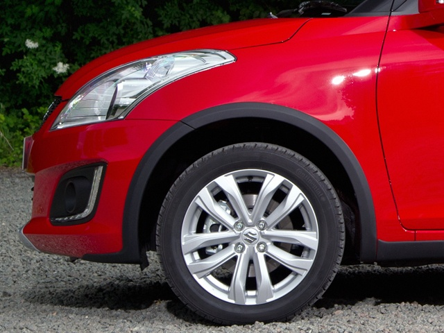 The ride height of the Swift 4x4 SZ4 is 25mm higher