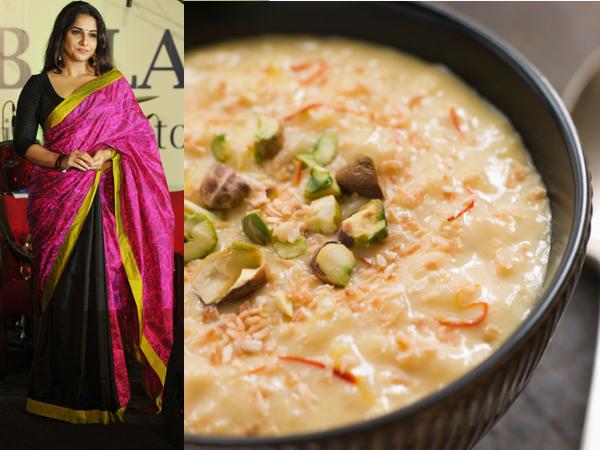 Vidya Balan: Delectable and desi, this sari-clad actress is definitely the South Indian version of kheer aka payasam.