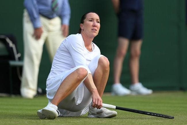 Players Slipping Off Wimbledon