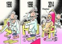 Narendra Modi and L K Advani cartoon