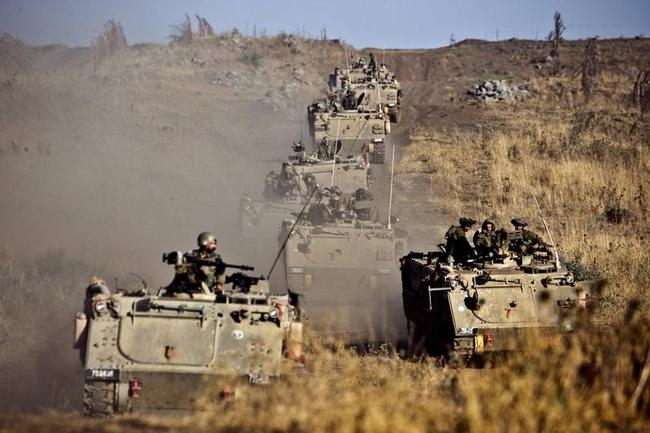 Israeli Army Exercise in Golan Heights