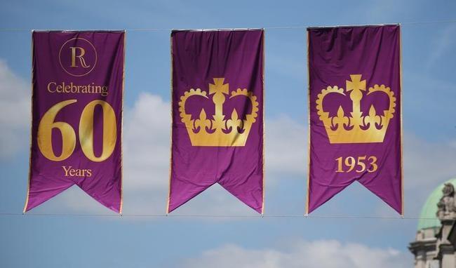 Flags Celebrate 60 Years Since Queen Elizabeth II