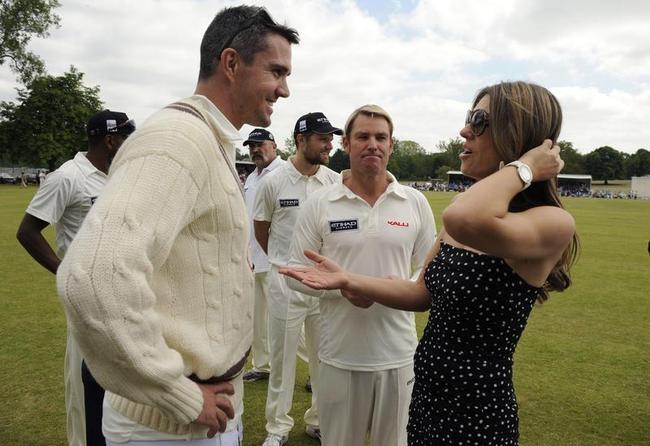 Elizabeth Hurley Officiates Charity Match