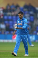 Bowler Mahendra Singh Dhoni in Action