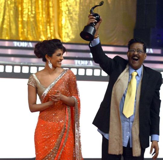 Priyanka Chopra with dad - late Dr. Ashok Chopra  Courtesy: BCCL