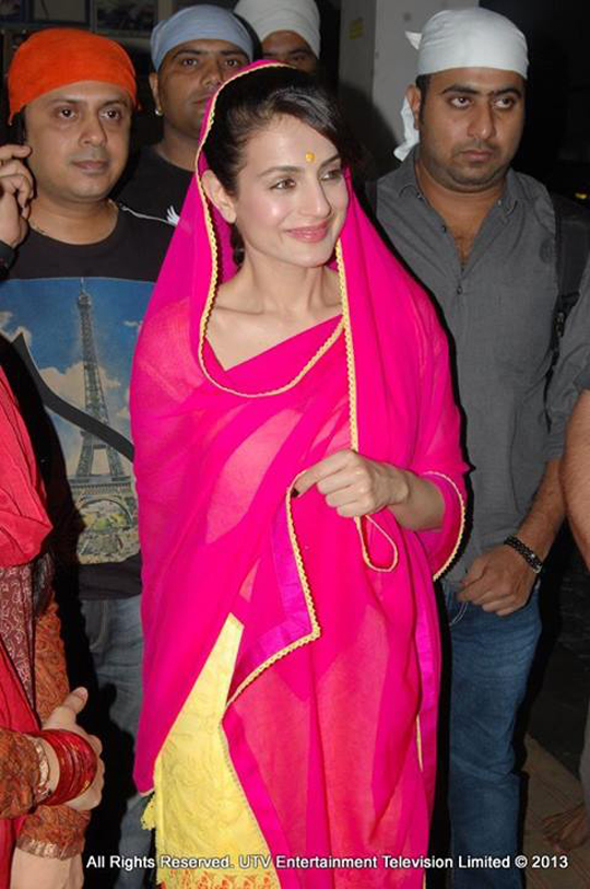 Ameesha Patel enjoys some beautiful moments in Amritsar.Courtesy: UTV