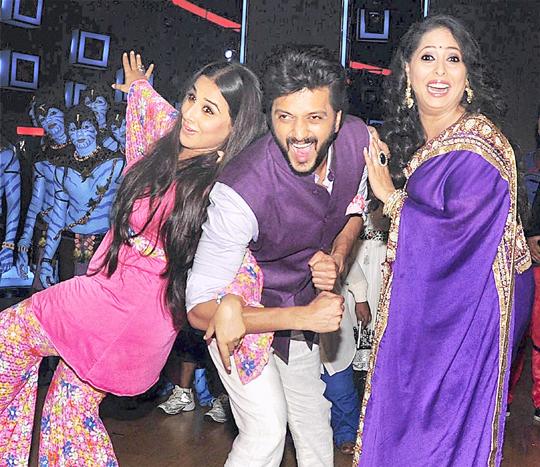 Vidya Balan, Riteish Deshmukh, Geeta Kapoor