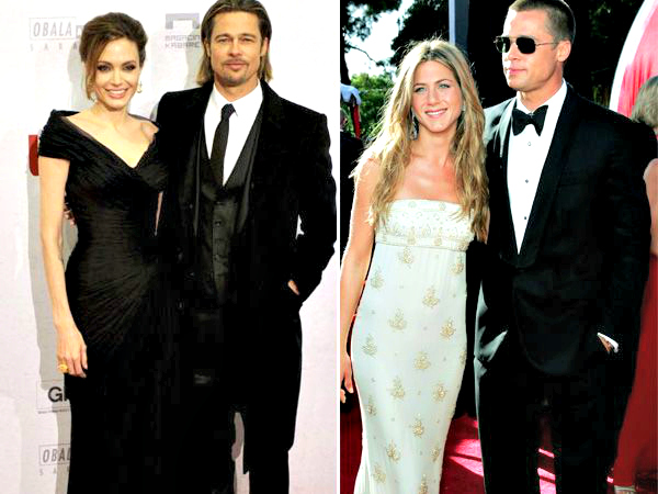 Brad Pitt, Angelina Jolie & Jennifer Aniston
