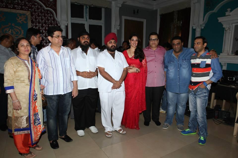 Producers Kumar & Ramesh Taurani with Tamanna Bhatia & directors Sajid-Farhad