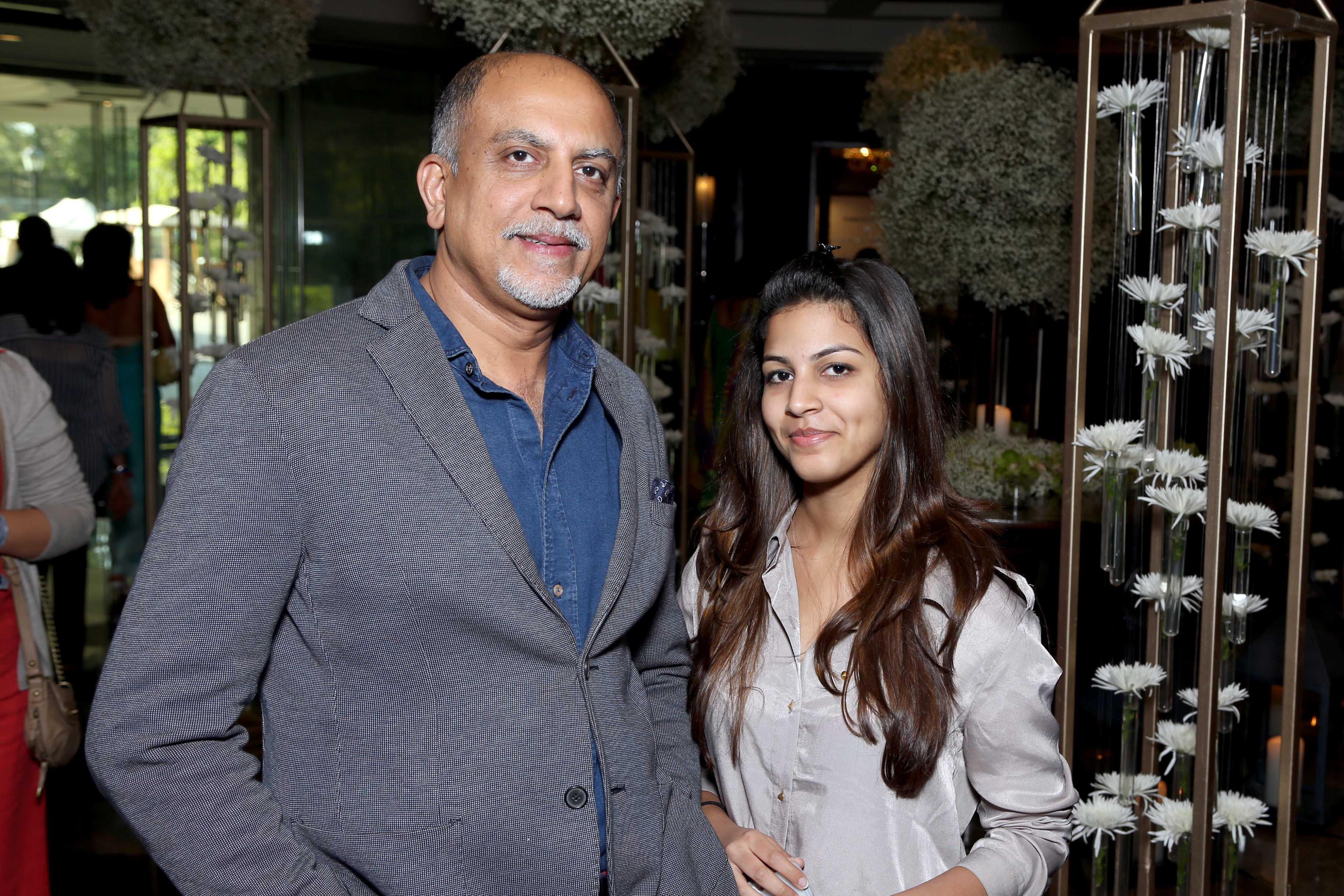 Alex Kuruvilla, MD, Conde Nast India and daughter at the Vogue Wedding Show
