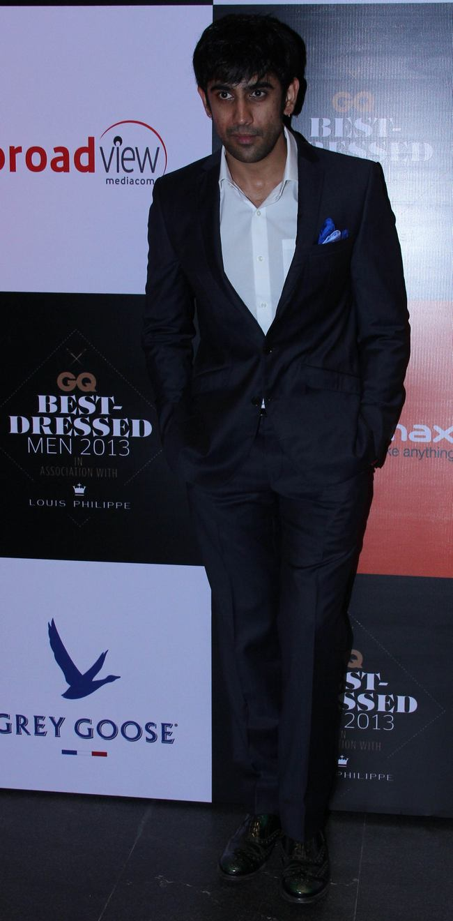 'Kai Po Che' fame Amit Sadh looked suave when he got suited up for the GQ best dressed bash.