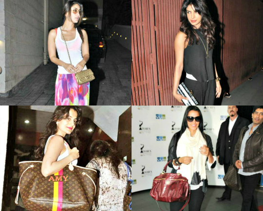 At the airport or on the red carpet, celebrities are rarely spotted without their favourite designer bag of the season. Here's a quick recap of the latest arm candy sightings from Bollywood's fashionable dahlings.
