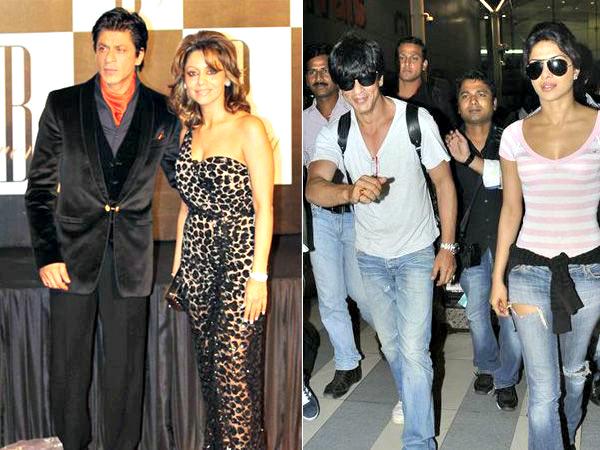 Shah Rukh Khan, Gauri & Priyanka Chopra