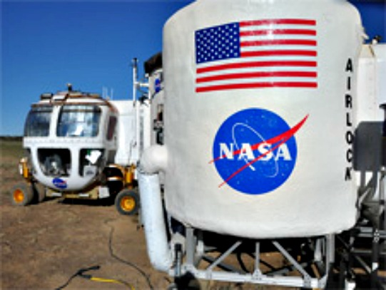 Space Habitat Docked With Space Exploration Vehicle