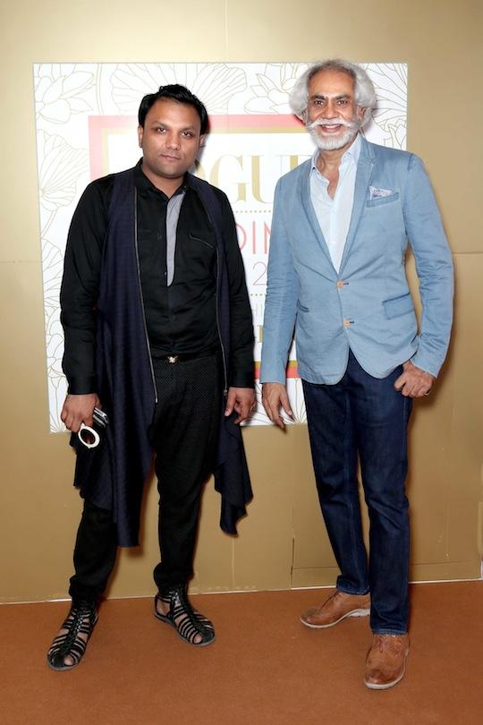 Gaurav Gupta and Sunil Sethi at the Vogue Wedding Show