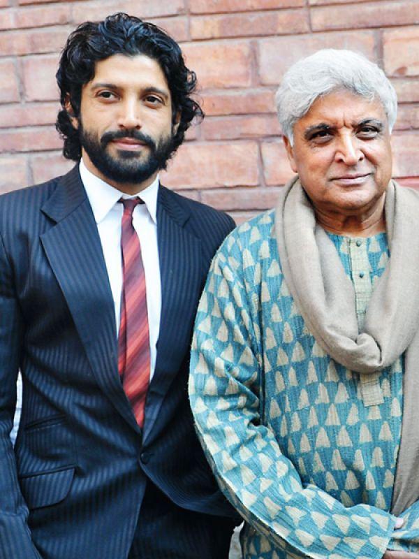 Javed and Farhan Akhtar