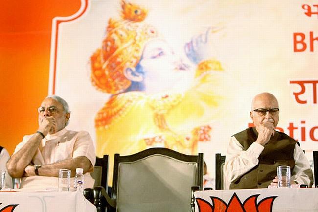 L K Advani with Narendra Modi