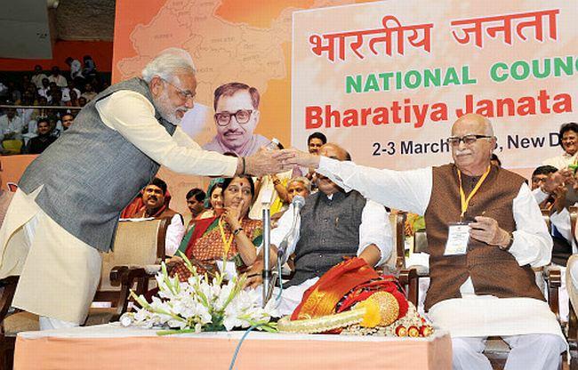 L K Advani Narendra Modi