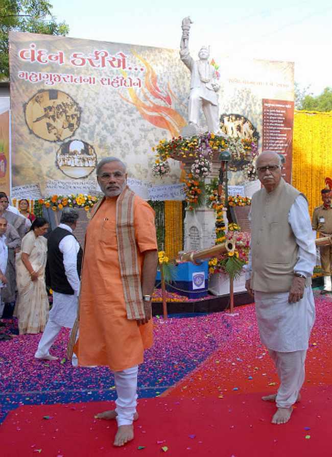 L K Advani and Gujarat CM Narendra Modi